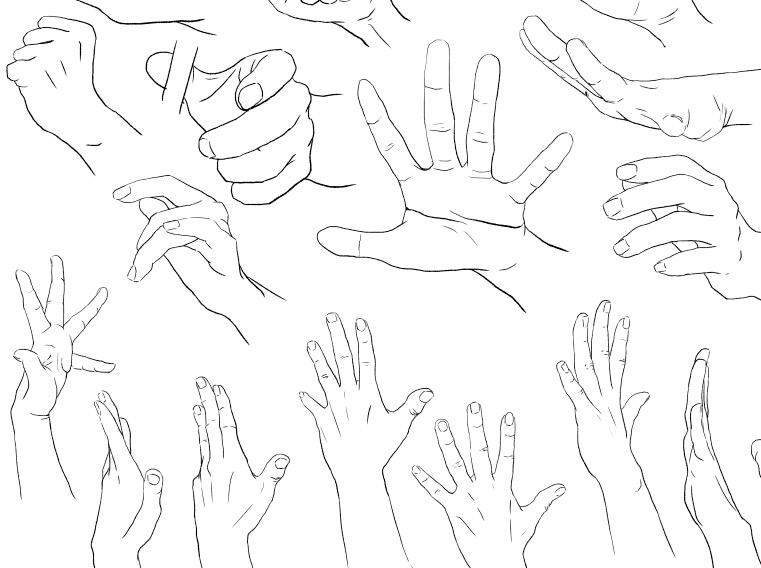 手を描く練習&練習用の資料をつくりました