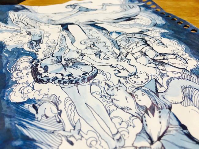 コピー用紙500枚チャレンジで絵の練習【151~200枚目】