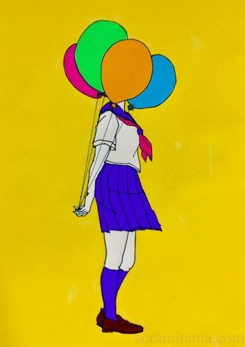 風船ガールを描いた。メイキング・感想・反省