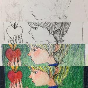 白雪姫(っぽい子)を描いた。メイキング・感想・反省