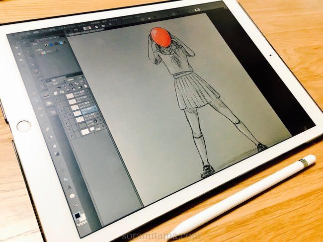 お絵かき用に12.9インチiPad Pro・Apple Pencilを購入。使用アクセサリと使い心地レビュー。