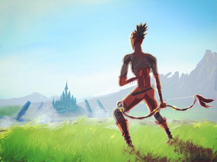 ゼルダの伝説BotWファンアート イーガ団構成員を描いた イラストメイキング・感想・反省