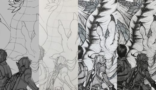 モンハンとゼルダの絵を描いた。イラストメイキング・感想・反省