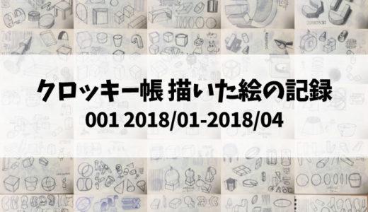 クロッキー帳001 描いた絵の記録(ポケットサイズ 2018/01-2018/04)